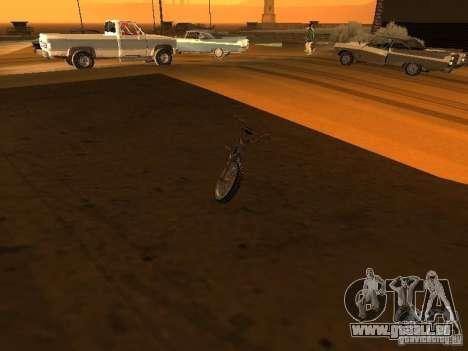 New Bmx pour GTA San Andreas vue intérieure