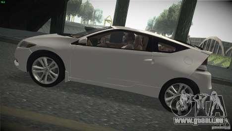 Honda CR-Z 2010 V1.0 für GTA San Andreas zurück linke Ansicht