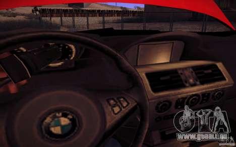 BMW M6 pour GTA San Andreas vue de dessus