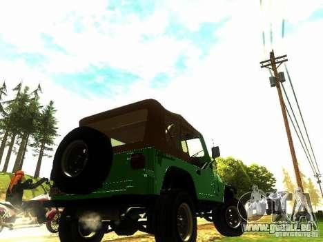 Jeep Wrangler Convertible für GTA San Andreas linke Ansicht