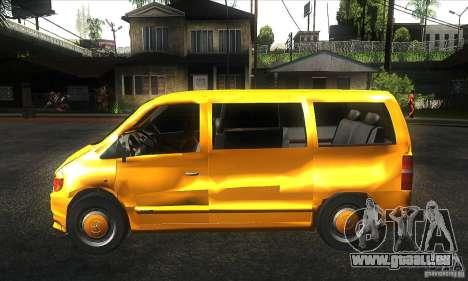 Mercedes Vito pour GTA San Andreas laissé vue