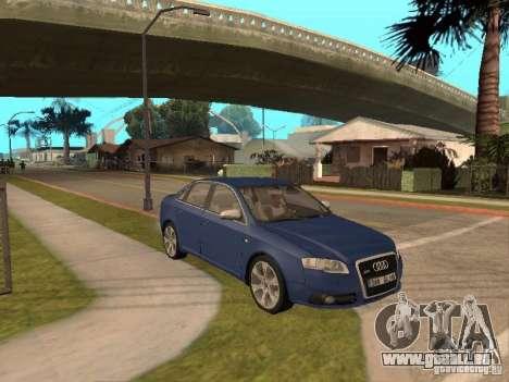 Audi S4 pour GTA San Andreas vue arrière