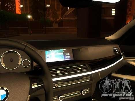 BMW 535i F10 pour GTA San Andreas vue arrière