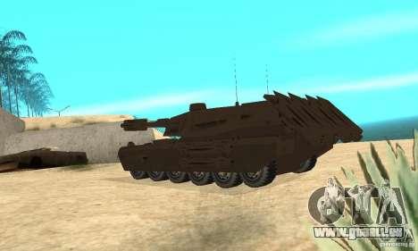 Rhino Tank Megatron pour GTA San Andreas sur la vue arrière gauche