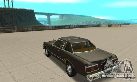 Chrysler Le Baron 1978 für GTA San Andreas zurück linke Ansicht
