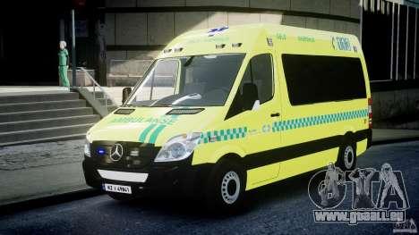 Mercedes-Benz Sprinter PK731 Ambulance [ELS] pour GTA 4