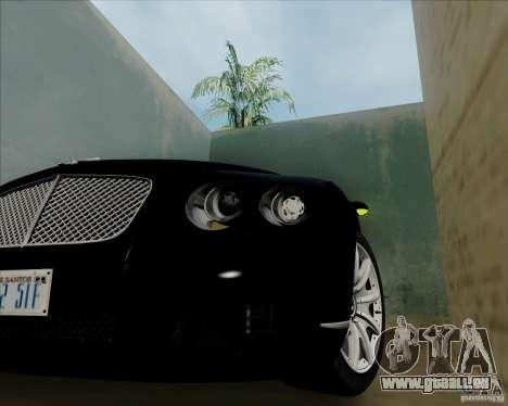 Bentley Continental GT V1.0 für GTA San Andreas Rückansicht