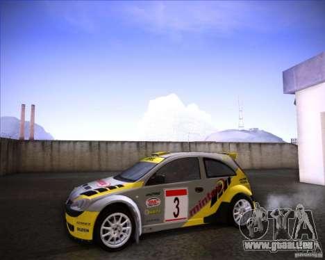 Opel Corsa Super 1600 pour GTA San Andreas vue de droite