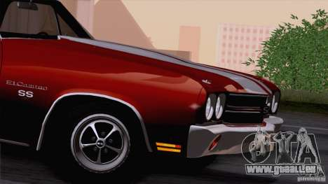 Chevrolet El Camino SS 70 Fixed Version pour GTA San Andreas vue de droite