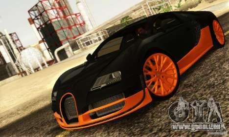 Bugatti Veyron SuperSport pour GTA San Andreas laissé vue