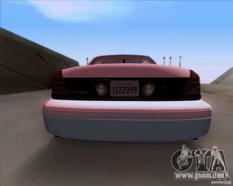Ford Crown Victoria 2009 Detective für GTA San Andreas Innenansicht