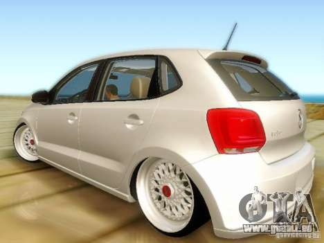 Volkswagen Polo 6R TSI Edit pour GTA San Andreas laissé vue