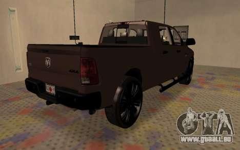 Dodge Ram 3500 pour GTA San Andreas sur la vue arrière gauche