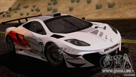 McLaren MP4-12C Speedhunters Edition pour GTA San Andreas sur la vue arrière gauche
