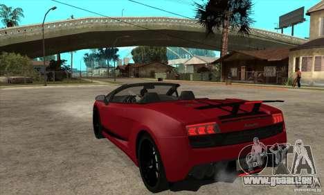 Lamborghini LP570-4 Performante 2011 pour GTA San Andreas sur la vue arrière gauche