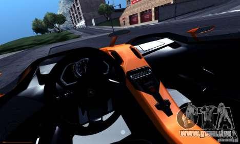 Lamborghini Aventador J für GTA San Andreas obere Ansicht