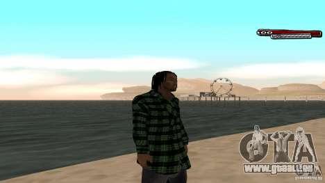 New skin Grove HD pour GTA San Andreas quatrième écran