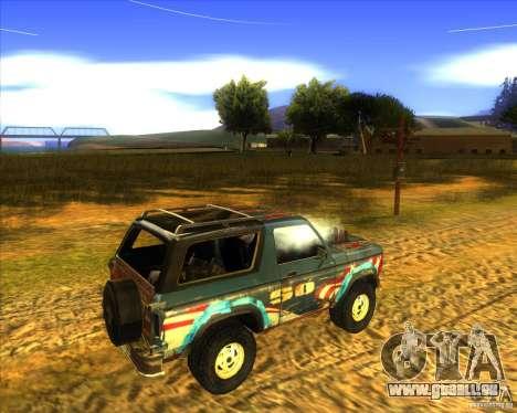 Blazer XL FlatOut2 für GTA San Andreas Rückansicht