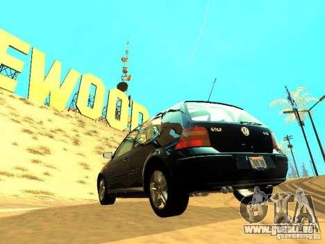 Volkswagen Golf 4 GTI für GTA San Andreas Rückansicht