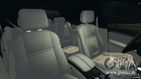 BMW X5 xDrive35d pour GTA 4 est une vue de l'intérieur
