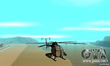 AH-6C Little Bird für GTA San Andreas Rückansicht