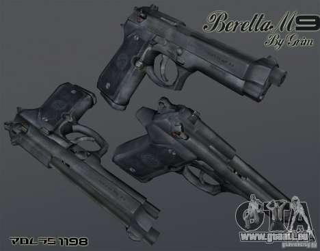 Beretta M9 pour GTA San Andreas deuxième écran