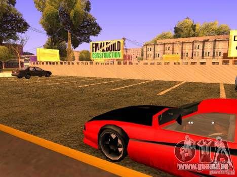 New Cheetah pour GTA San Andreas vue arrière