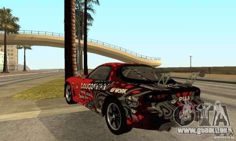 Mazda RX-7 FD3S für GTA San Andreas zurück linke Ansicht