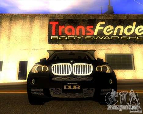 BMW X5 dubstore pour GTA San Andreas vue de dessous