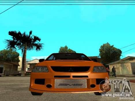 Mitsubishi Lancer Evo IX MR Edition pour GTA San Andreas salon