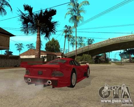 Mercedes-Benz CLK GTR road version pour GTA San Andreas sur la vue arrière gauche