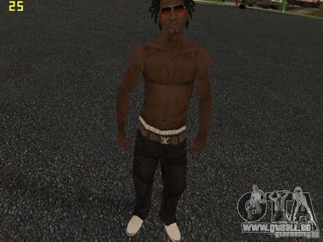 Afro-American Boy pour GTA San Andreas quatrième écran