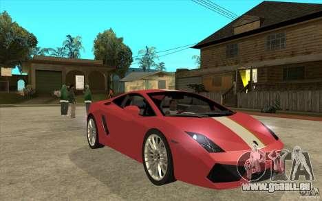 Lamborghini Gallardo LP550 Valentino Balboni pour GTA San Andreas vue arrière