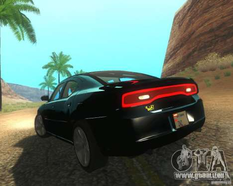 Dodge Charger 2011 pour GTA San Andreas vue de droite