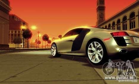 Audi R8 5.2 FSI Quattro pour GTA San Andreas laissé vue