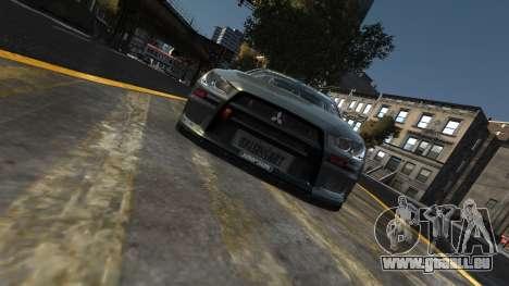 Mitsubishi Lancer Evolution für GTA 4 rechte Ansicht
