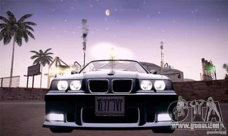 BMW E36 M3 Coupe - Stock für GTA San Andreas Rückansicht