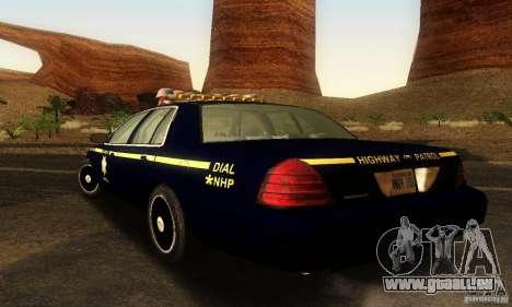 Ford Crown Victoria Nevada Police pour GTA San Andreas laissé vue