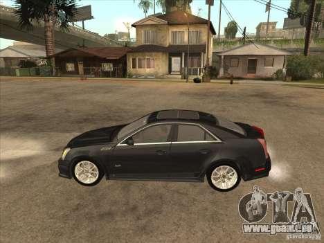 Cadillac CTS-V 2009 pour GTA San Andreas laissé vue