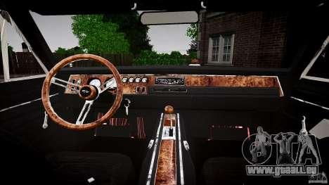Dodge Charger RT 1969 für GTA 4 Rückansicht