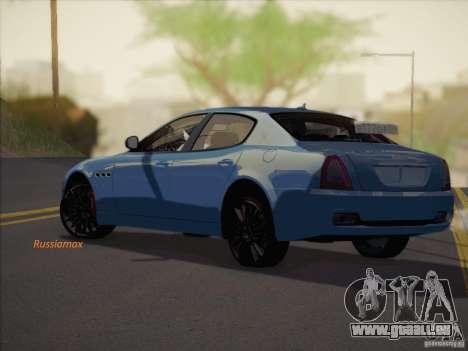 Maserati Quattroporte v3.0 pour GTA San Andreas laissé vue