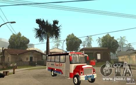 Kodiak B70 - Autofusa Colombia für GTA San Andreas Rückansicht