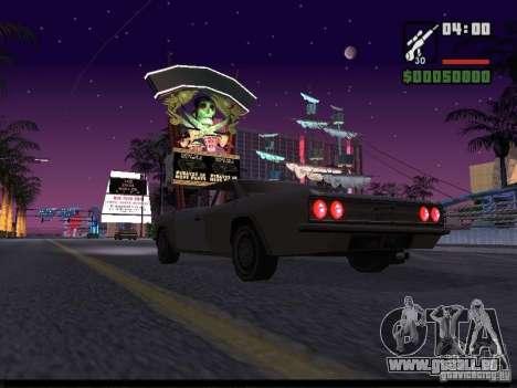 Ciel étoilé v2.0 (pour SA: MP) pour GTA San Andreas quatrième écran