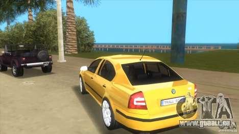 Skoda Octavia 2005 pour GTA Vice City sur la vue arrière gauche