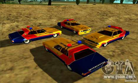 Ford Falcon 351 GT Interceptor Mad Max für GTA San Andreas Rückansicht