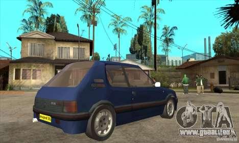 Peugeot 205 GTI für GTA San Andreas rechten Ansicht