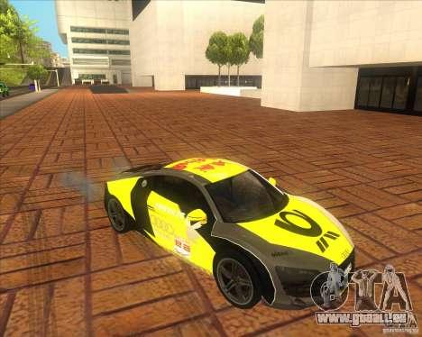 Audi R8 2007 für GTA San Andreas rechten Ansicht