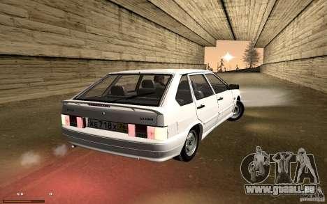 ВАЗ 2114 qualité pour GTA San Andreas vue intérieure