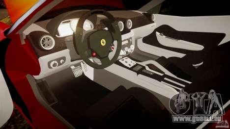 Ferrari 599 GTB pour GTA 4 est une vue de l'intérieur