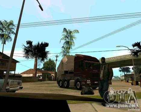 Iveco Stralis für GTA San Andreas Rückansicht